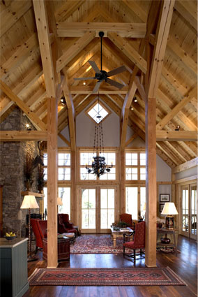 Timber frame homes by mill creek post beam company Timber frame house kits for sale