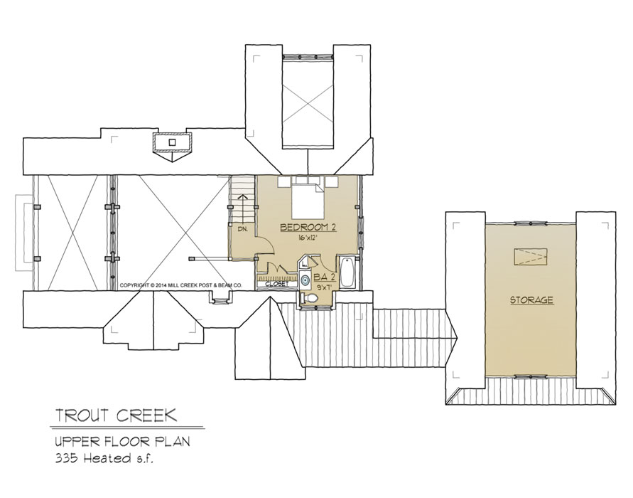 Trout Creek Upper Floor Plan
