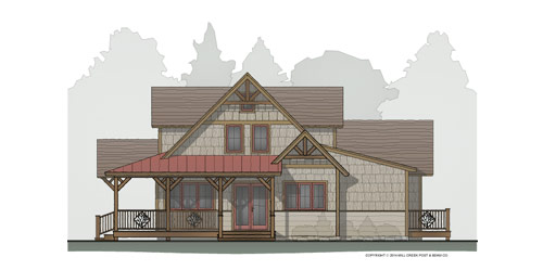Poplar Creek Timber Frame Floor Plan