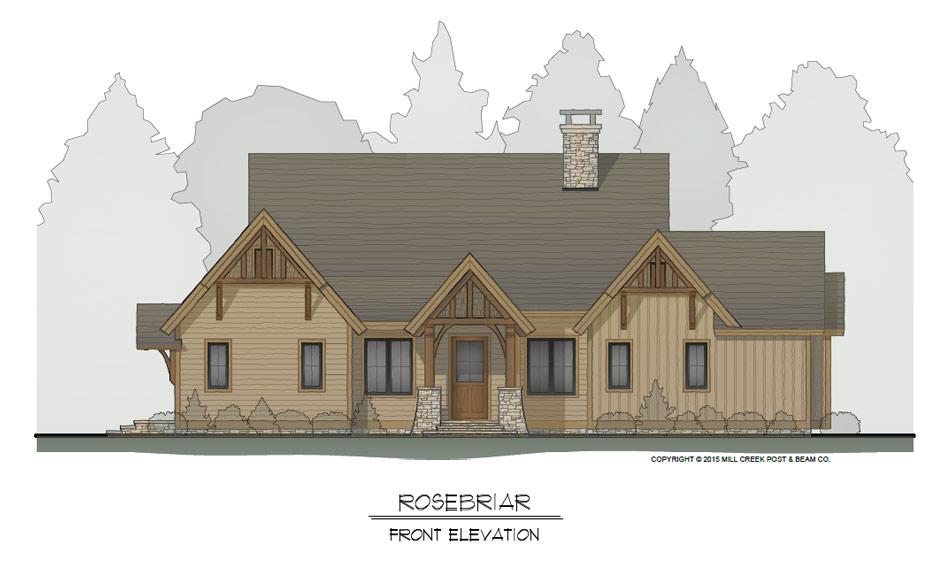 Rosebriar Front Home Elevation-
