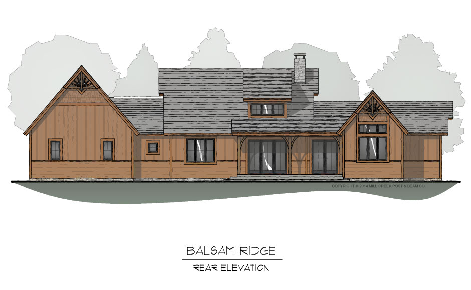 Balsam Ridge Timber Frame Home Design