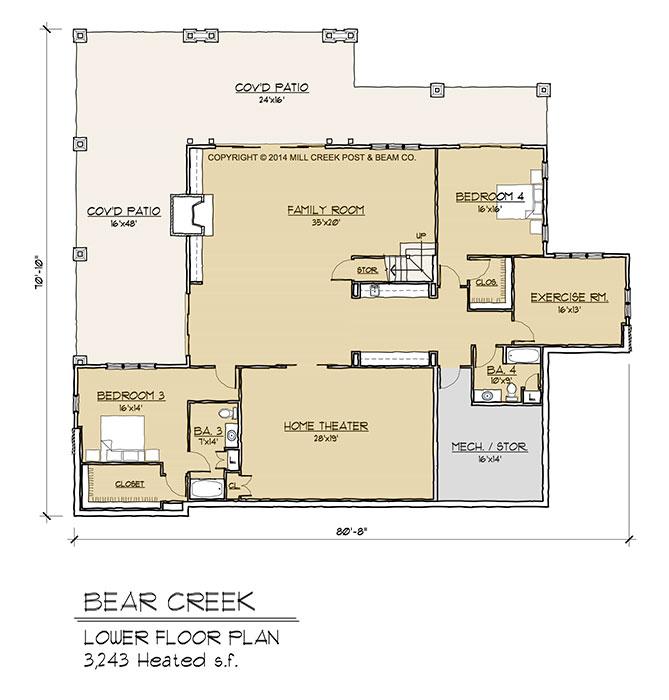 Bear Creek Lower Floor Plan