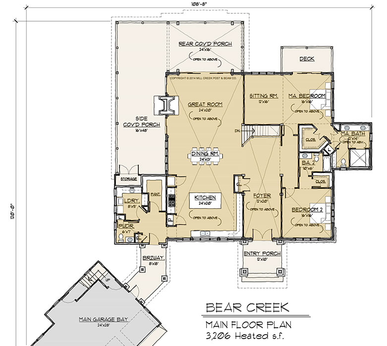 Timber Floor Plans: Bear Creek Timber Frame Floor Plan By Mill Creek