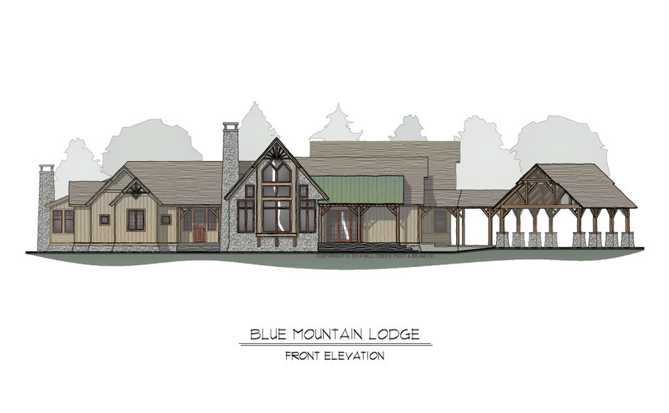 Blue Mountain Lodge Front Elevation