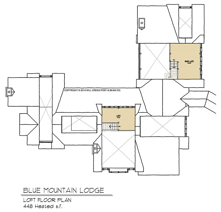 Blue Mountain Lodge Loft Floorplan