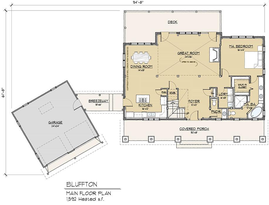 Bluffton Main Floor Plan