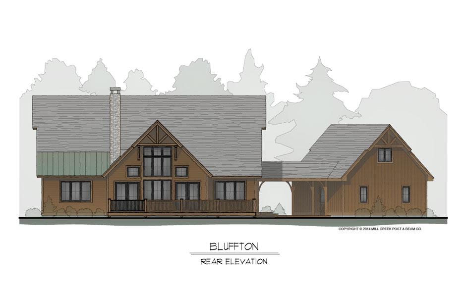 Bluffton Rear Elevation