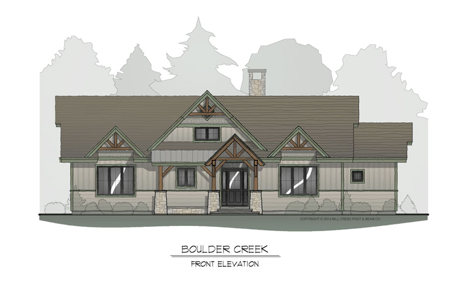 Boulder Creek Front Elevation