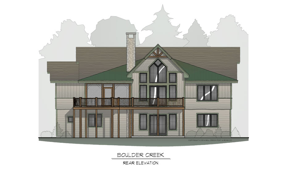 Boulder Creek Rear Elevation