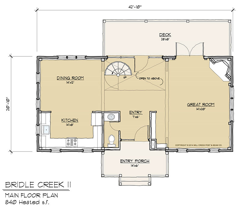 Bridle Creek II Main Floor Plan