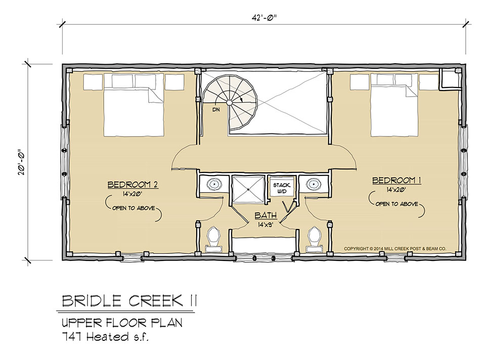 Bridle Creek II Upper Floor Plan