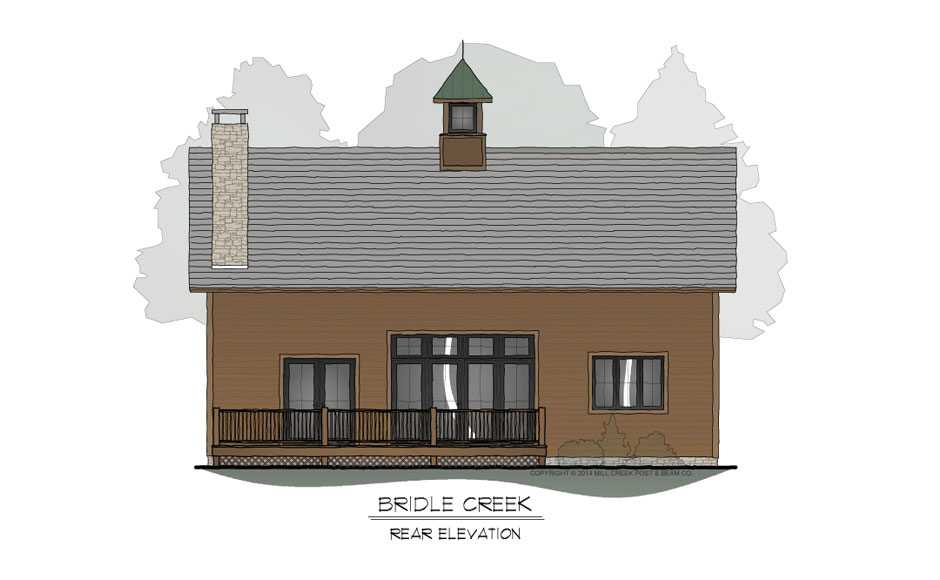 Bridle Creek Rear Elevation