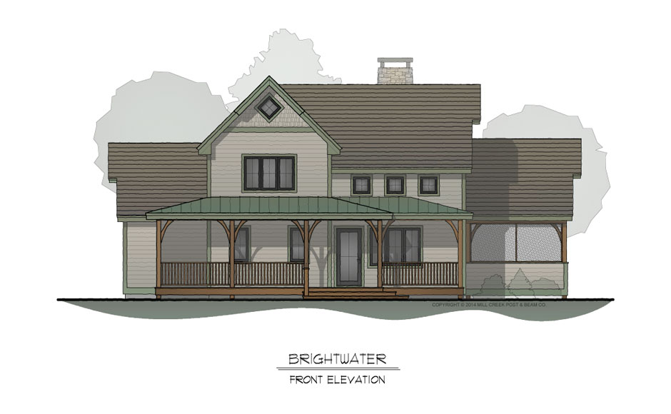 Brightwater Front Elevation