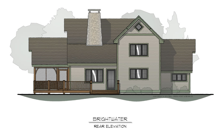Brightwater Rear Elevation
