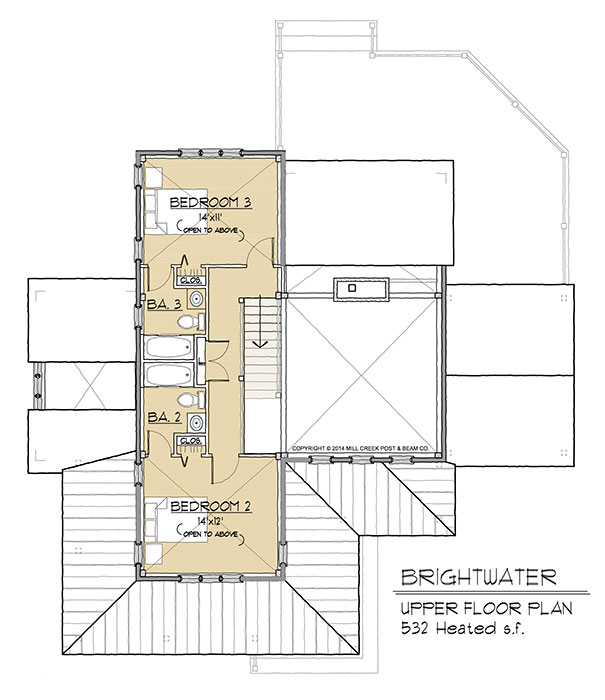 Brightwater Upper Floor Plan
