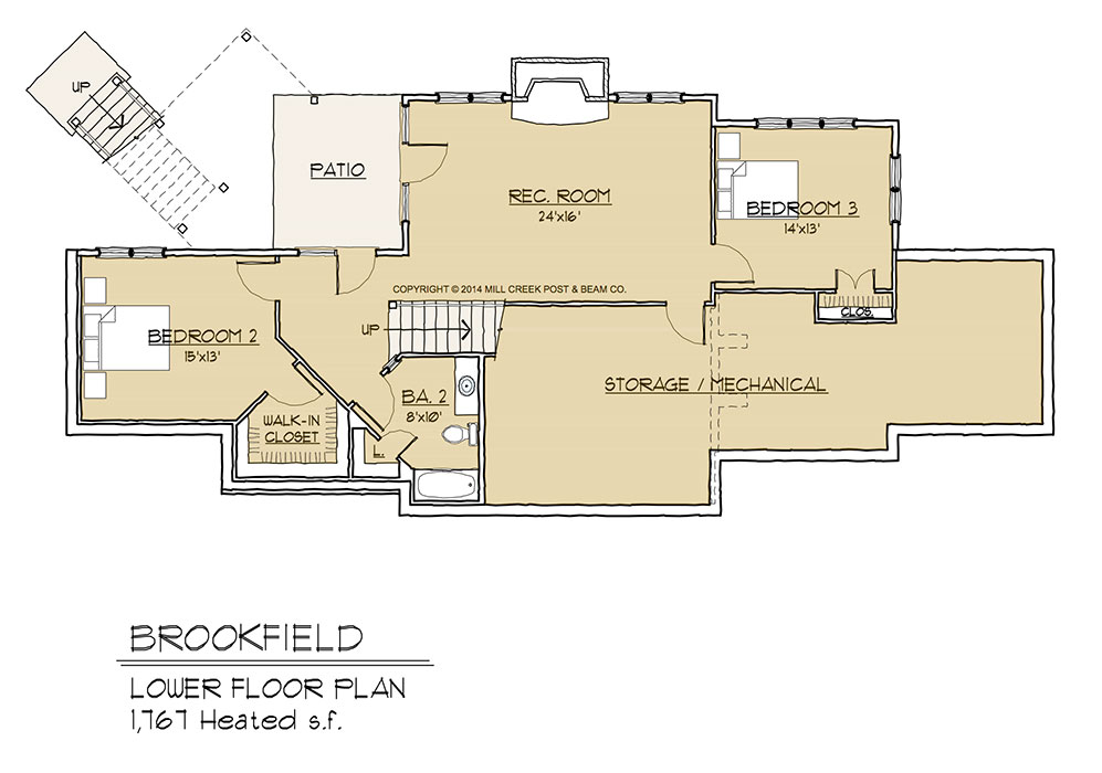 Brookfield Lower Floor Plan