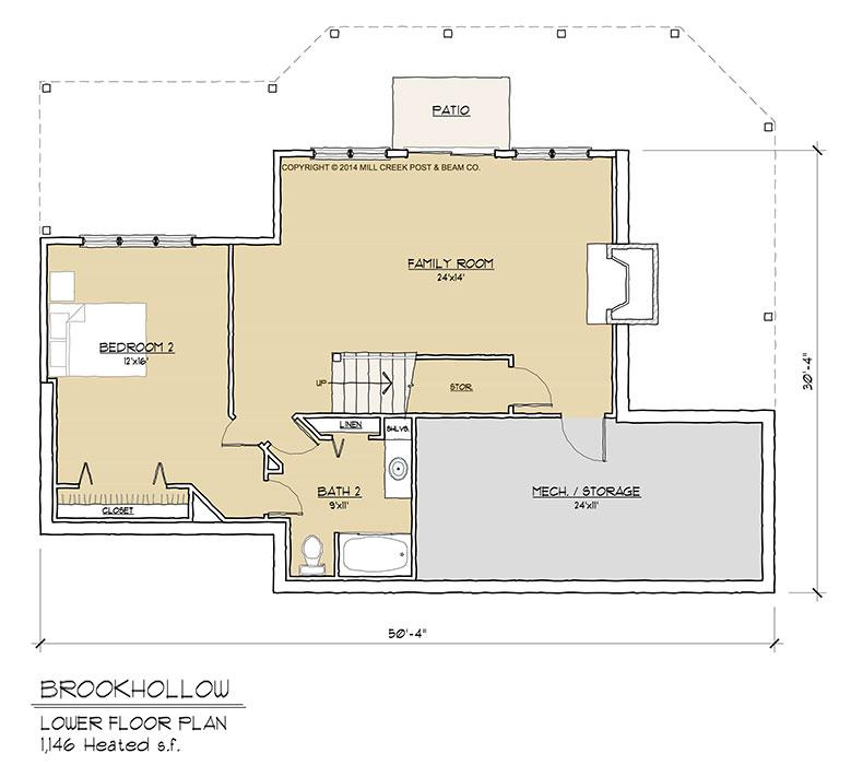 Brookhollow Lower Floor Plan