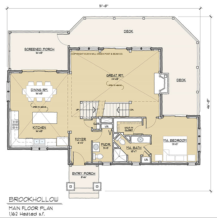 Timber Floor Plans: Brookhollow Timber Frame Floor Plan By Mill Creek