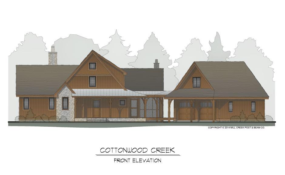 Cottonwood Creek Front Elevation