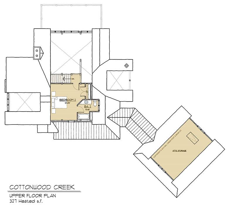 Cottonwood Creek Upper Floor Plan