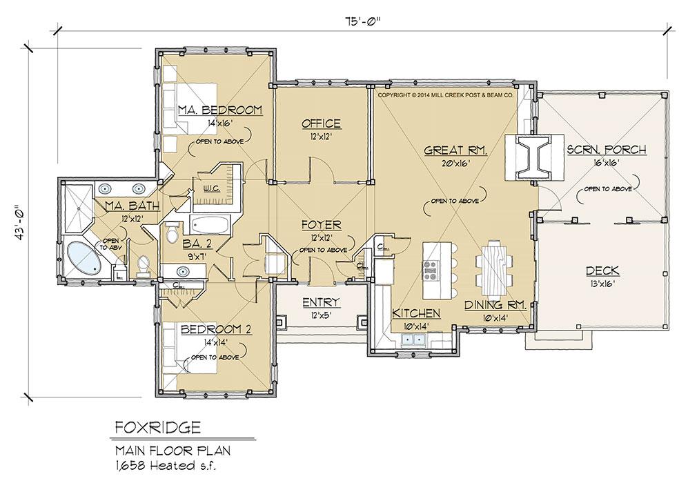 Foxridge Main Floor Plan
