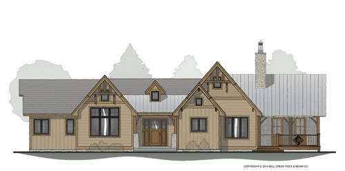 Foxridge Timber Frame Floor Plan By Mill Creek