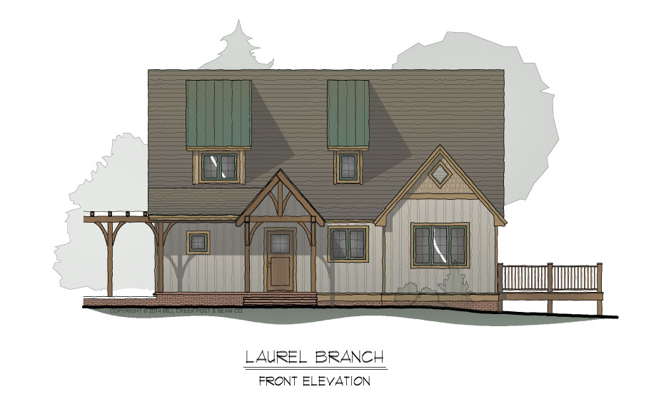 Laurel Branch Front Elevation