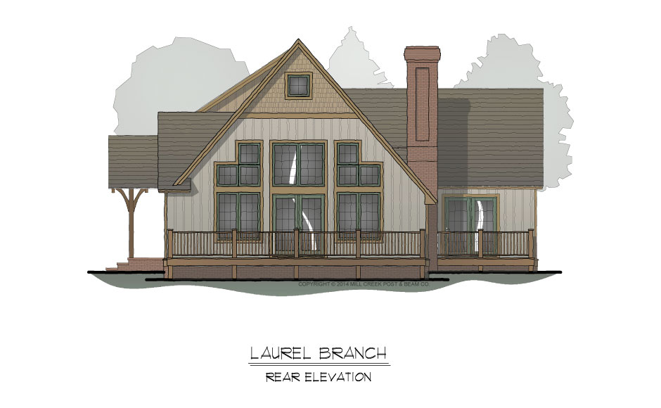 Laurel Branch Rear Elevation