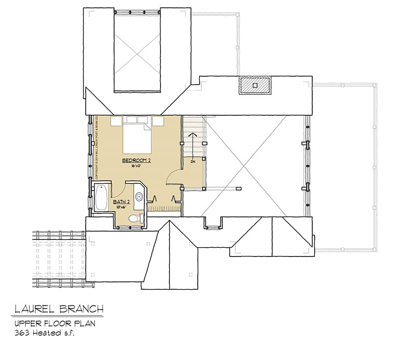 Laurel Branch Upper Floor Plan