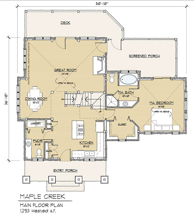 Maple Creek Timber Frame Floor Plan By Mill Creek