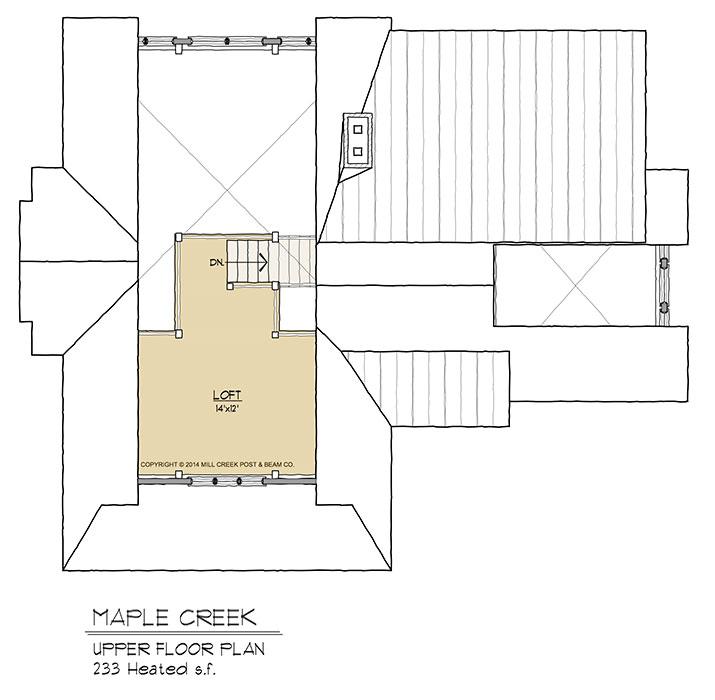 Maple Creek Upper Floor Plan