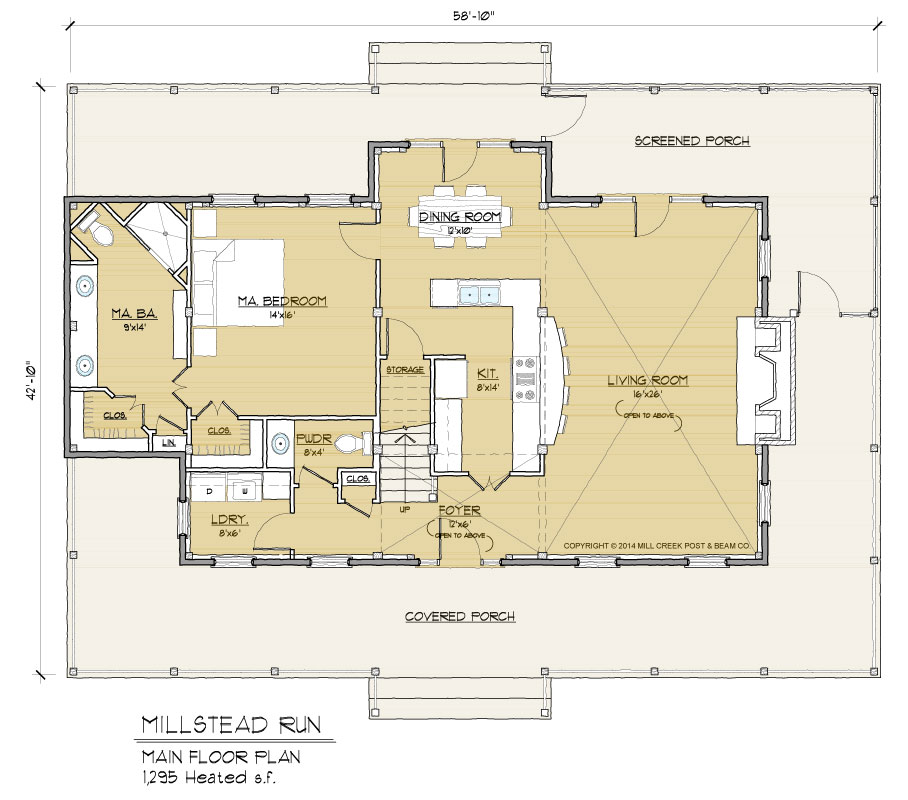 Millstead Run Timber Frame Floor Plan By Mill Creek