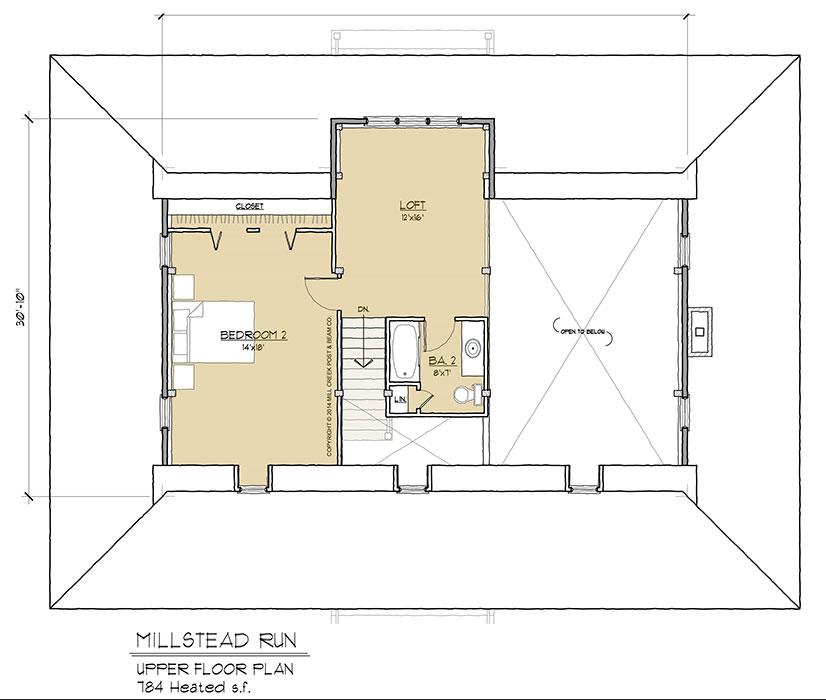 Millstead Run Upper Floorplan