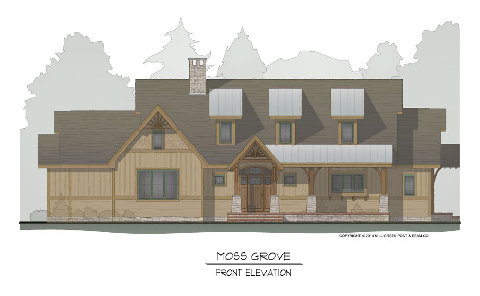 Moss Grove Front Elevation