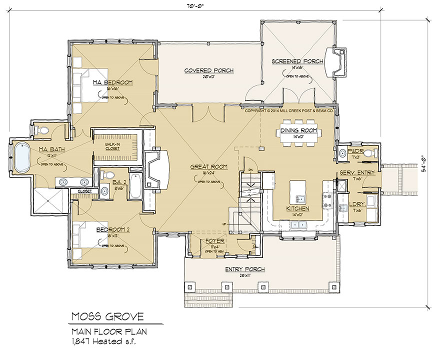 Moss grove timber frame floor plan by mill creek for Timber floor plans