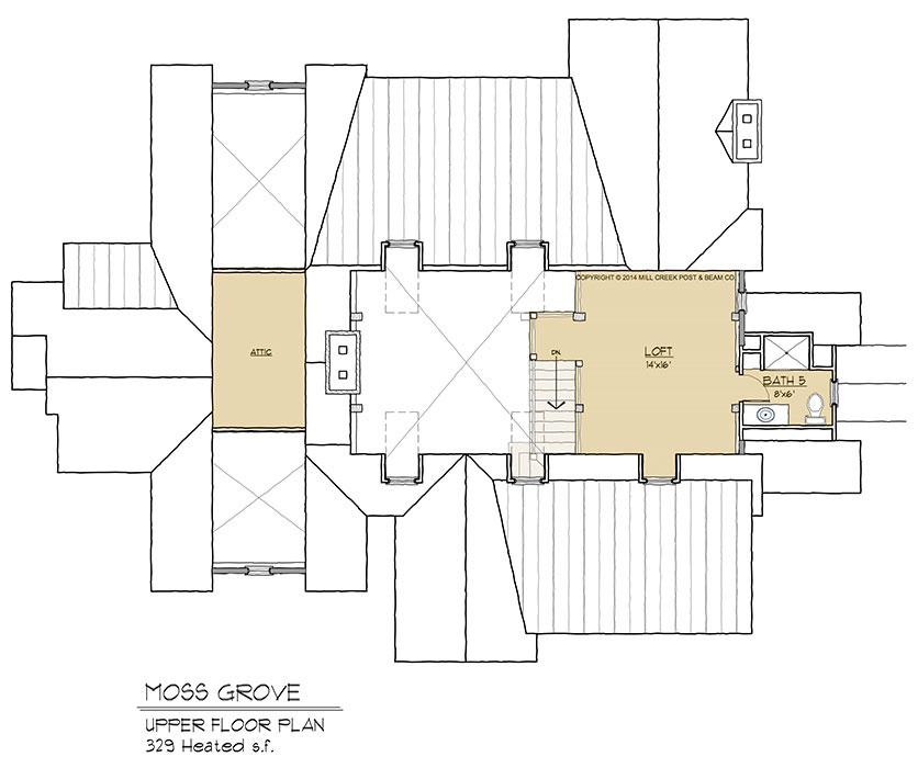 Moss Grove Upper Floor Plan