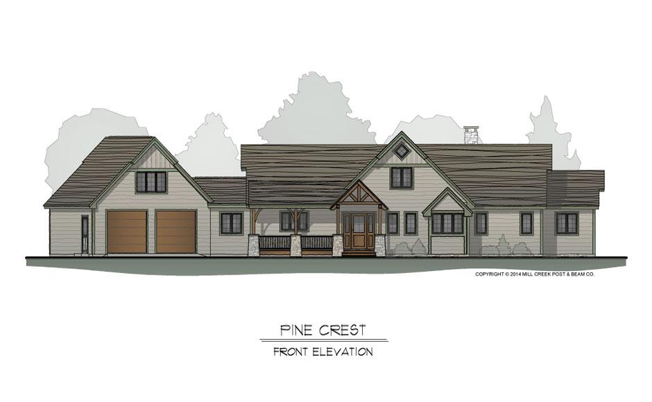Pine Crest Timber Frame Floorplan