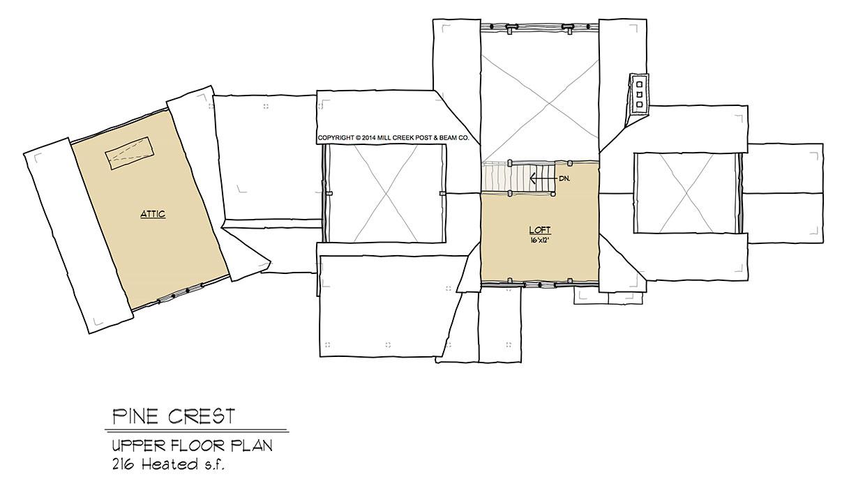 Pine Crest Timber Frame Home Design