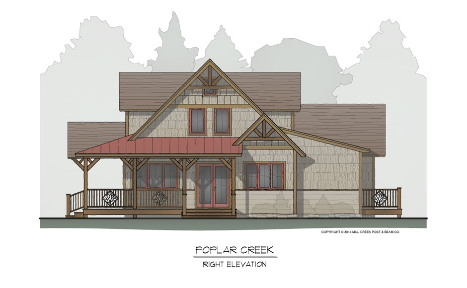 Poplar Creek Timber Frame Home Design