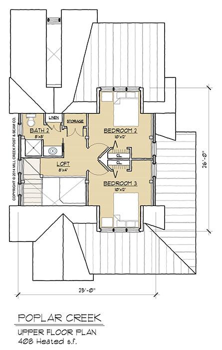 Poplar Creek Timber Frame Floor Plan