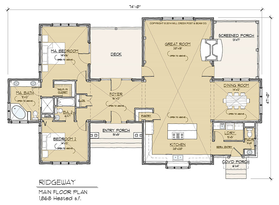 Ridgeway Timber Frame Floor Plan By Mill Creek