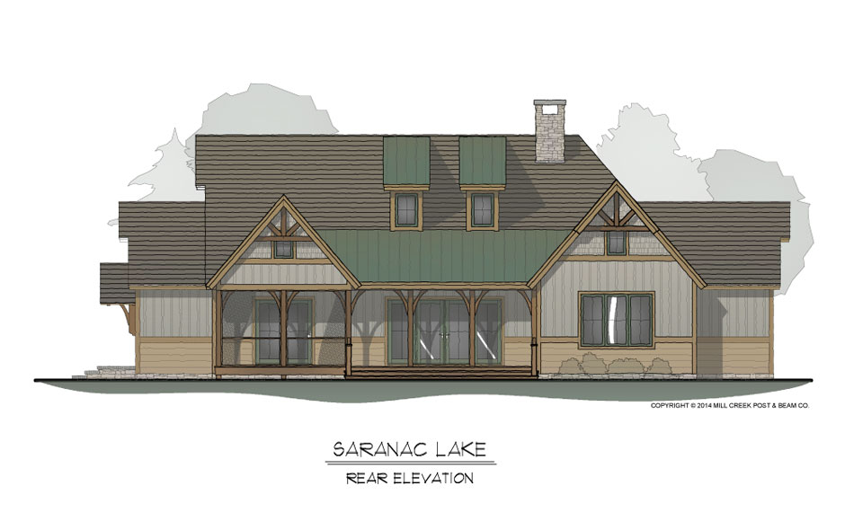 Saranac Lake Timber Frame Home Design