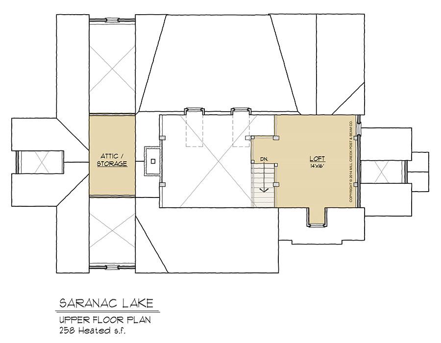 Saranac Lake Timber Frame Floorplan