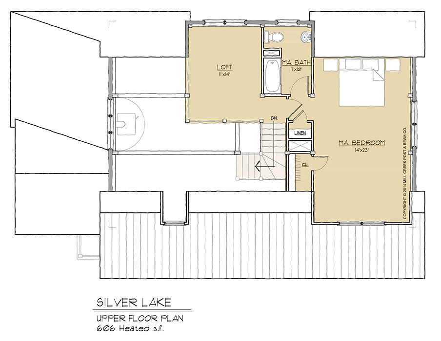 Silver lake timber frame floor plan by mill creek for Timber floor plans