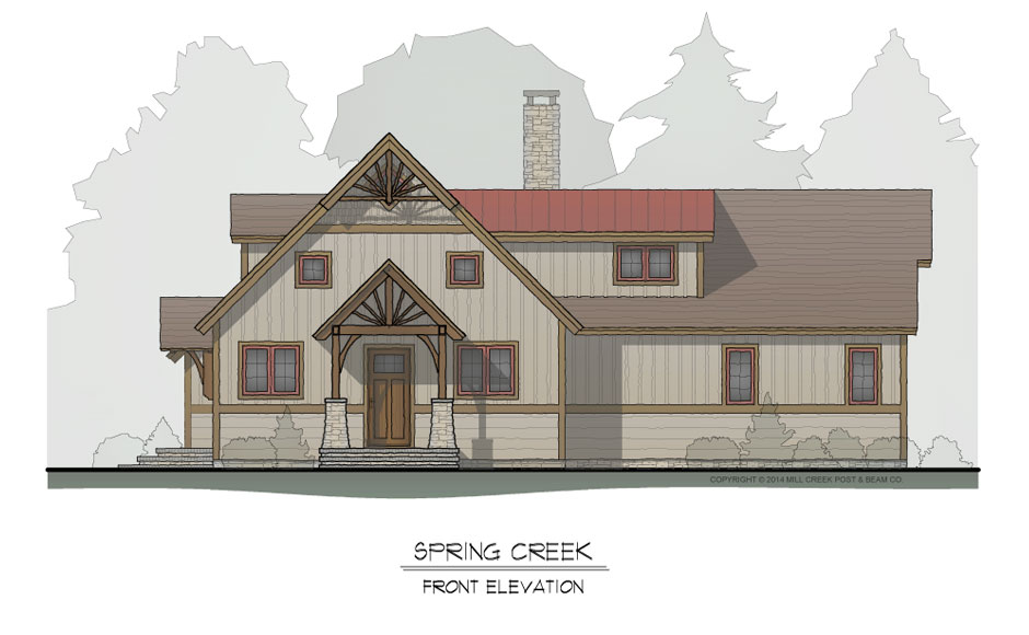 Spring Creek Timber Frame Home Design