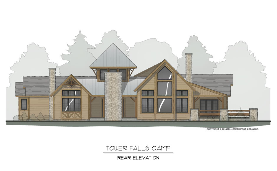Tower Falls Timber Frame Floorplan