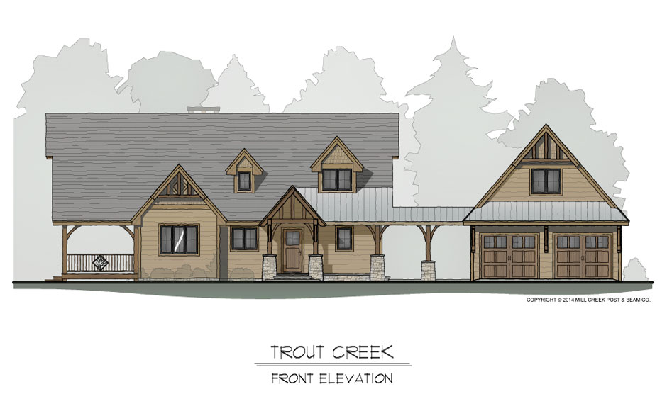 Trout Creek Frame Home Design