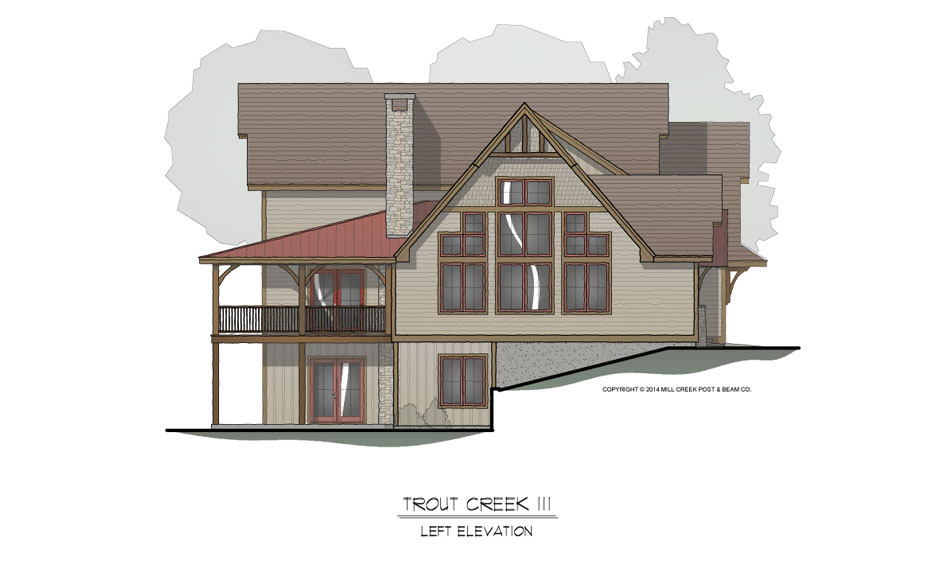 Trout Creek III Timber Frame Home Design