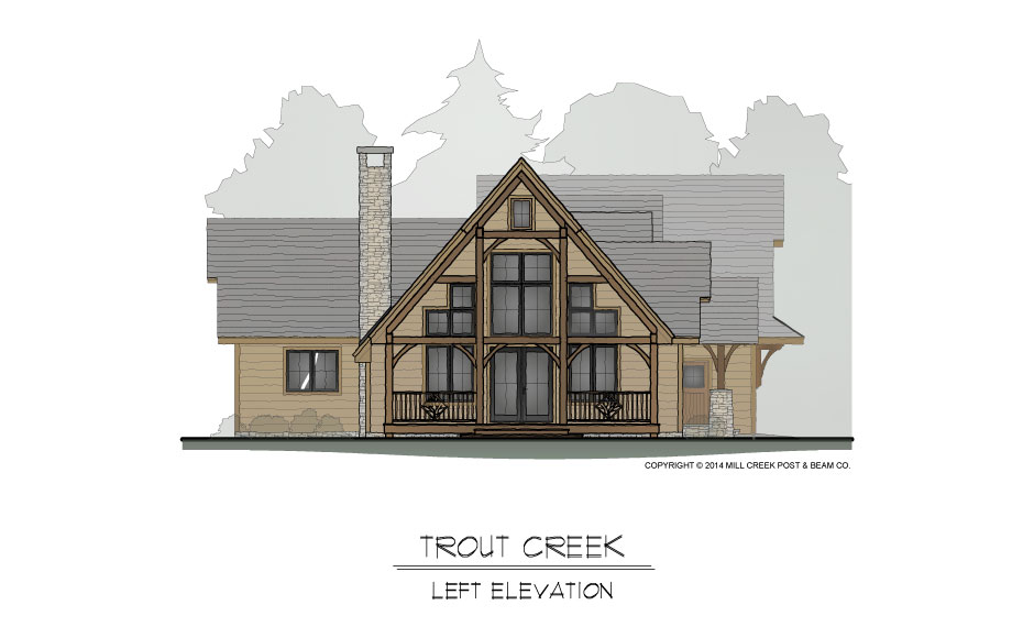 Trout Creek Timber Frame Home Design