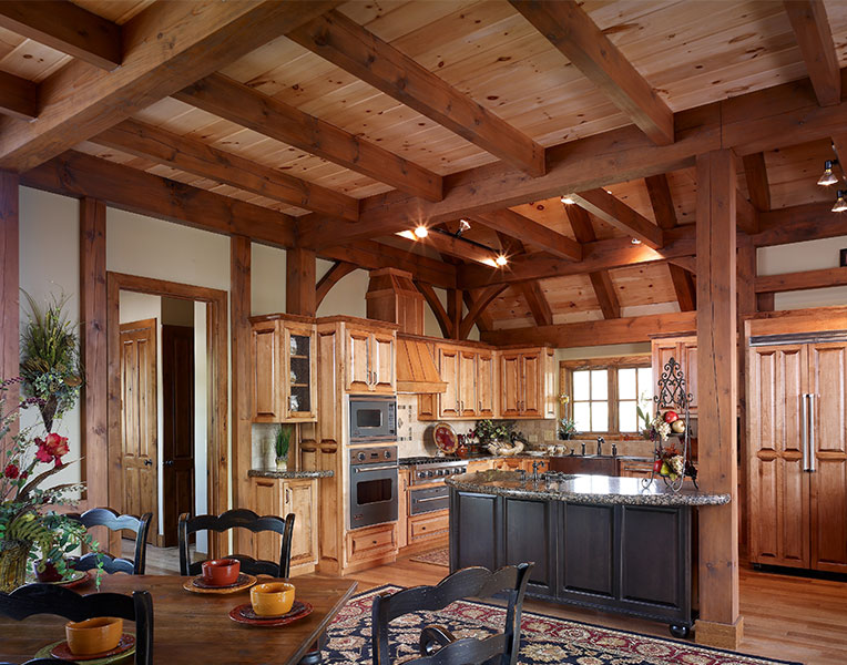 Timber Frame Designed Kitchens Mill Creek Post Beam